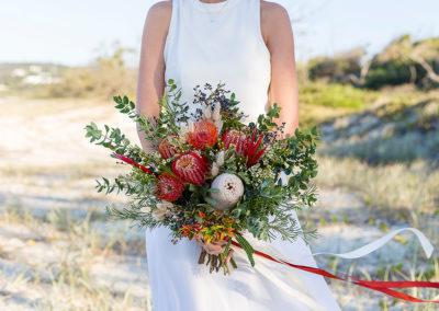 Brides beach bouquet