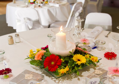 Gerbera & Jonquils table setting
