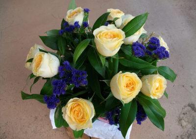 An arrangement of roses