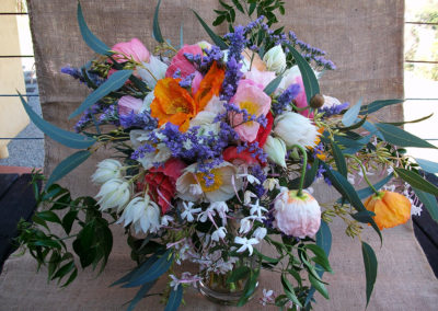 Poppy & Blushing bride wedding bouquet