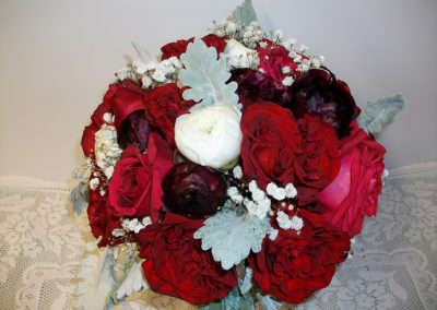 Bouquet with Garden roses & Ranunculi