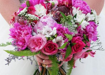 Large mixed wedding bouquet